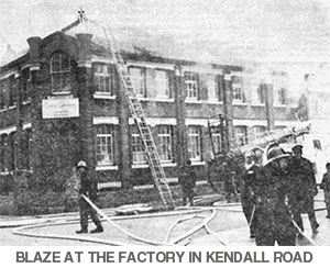Blaze at the Rose factory in Kendall Road