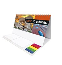 Iconic Structures Note Station Desk Calendar