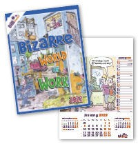Bill Stott's Bizarre World of Work Wall Calendar