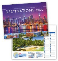 Destinations Wall Calendar